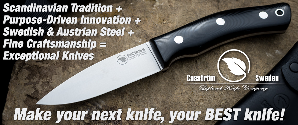 Casstrom Bushcraft Knives