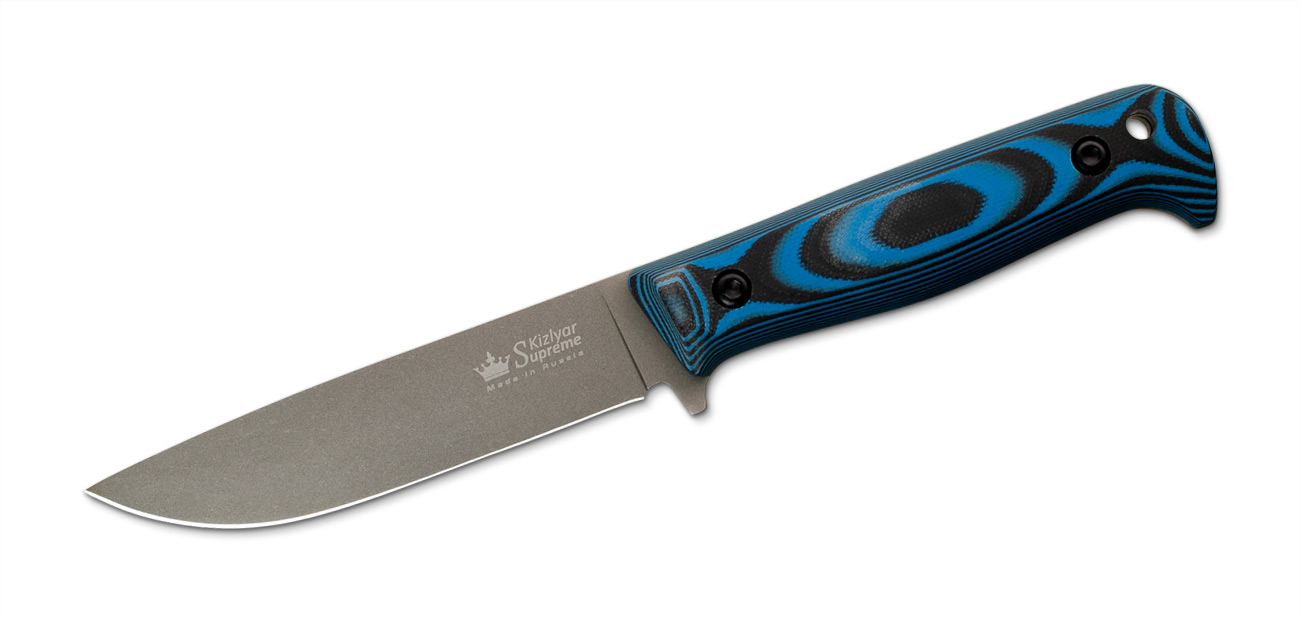 Yeti - PGK Steel Blue-Black Micarta