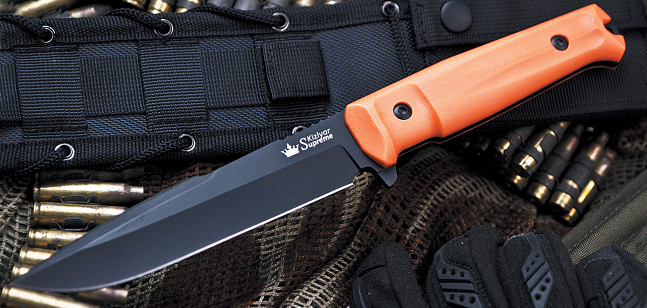 Delta AUS-8 - Black Ti w/ Orange Handle