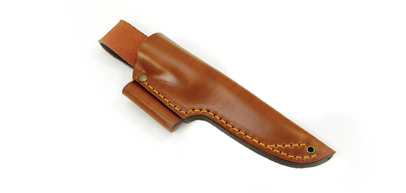 No.10 Sheath - Cognac + Firesteel holder