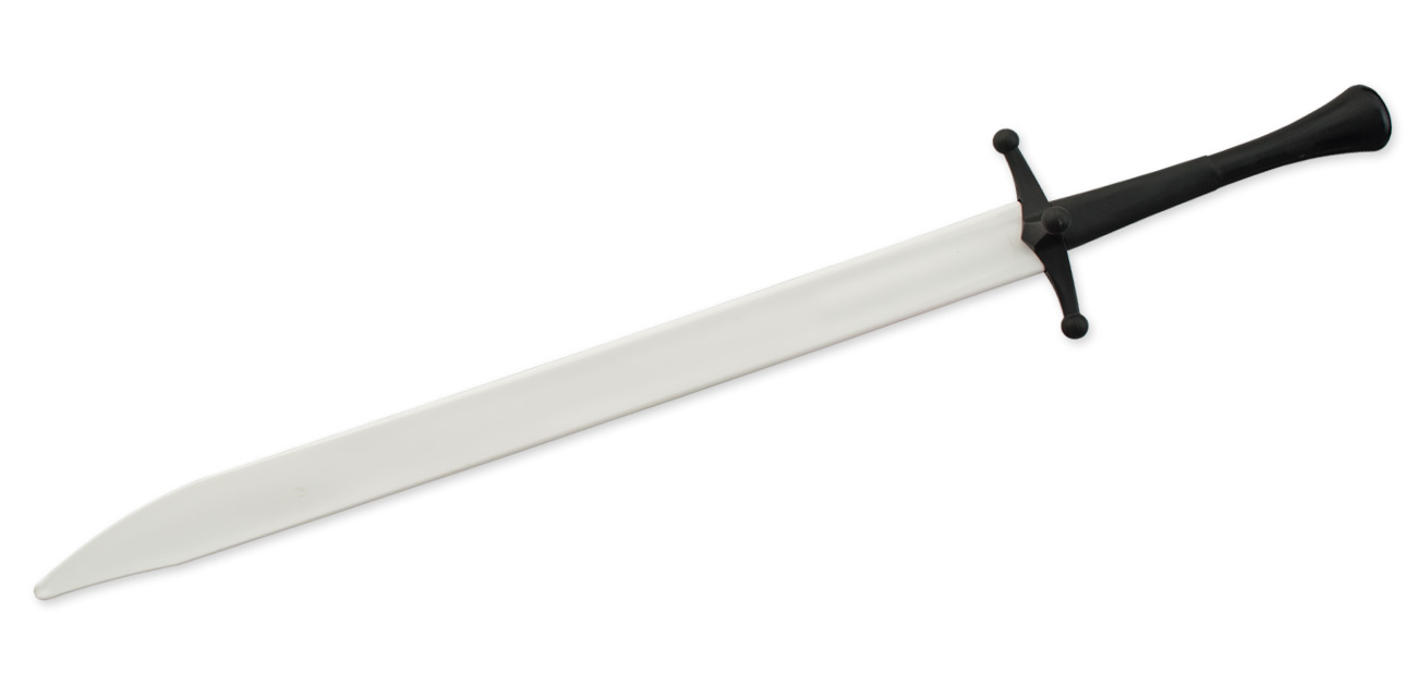 Synthetic Langes Messer Sparring Sword - White Blade w/ Black Hilt