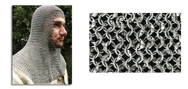 Chainmail Coif, Knight Grade