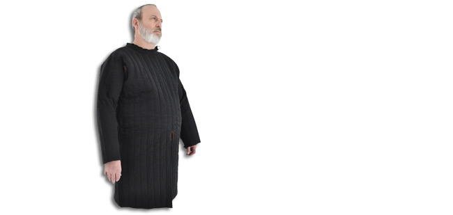 Closed Front Gambeson, Black