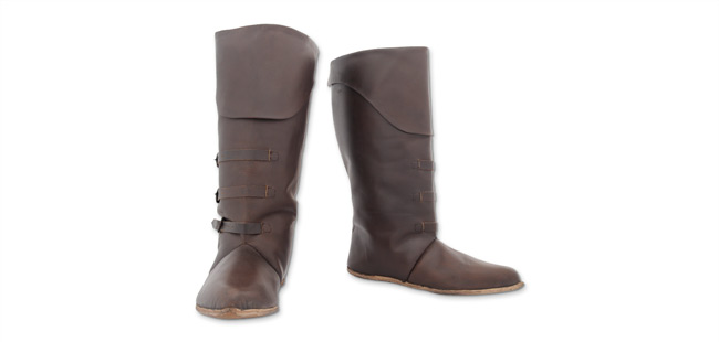 Mid Calf Boots, Dark Brown