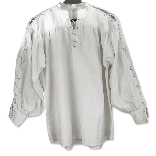 cotton shirt size x large collarless white cotton