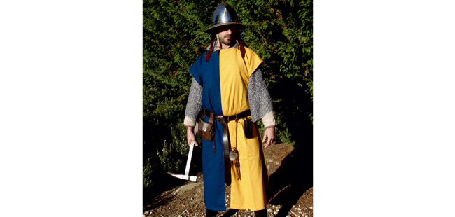 Squire's Tunic - Yellow / Royal Blue
