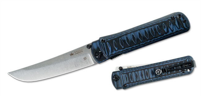 Whisper - Bohler M390 - Blue/Black G10