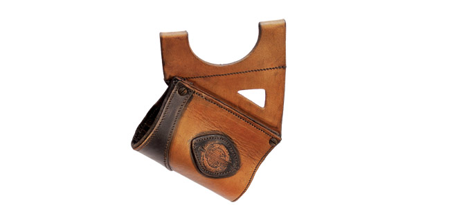 LeatherWorks Hanger Brown Leather Mount