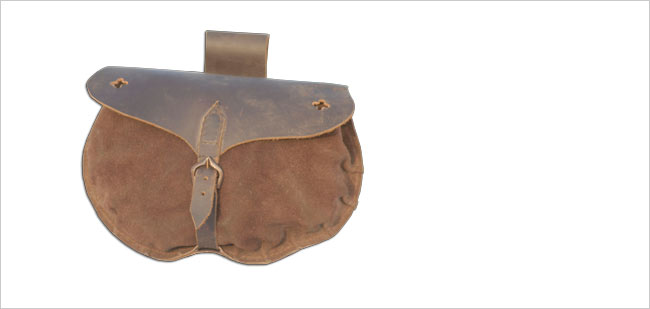 15th Century Soldiers Pouch - Roughout