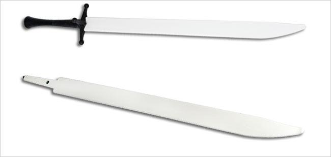 White Xtreme Synthetic Messer Nylon Sword Blade