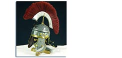 Roman Gallic Helmet, Red Crest, 18G