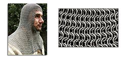 Mail Coif, Infantry Grade - Full Mantle, Square Face Code b