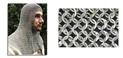 Chainmail Coif, Count Grade, Full Mantle, Square Face