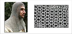 Chainmail Coif, Baron Grade, Square Face