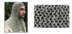 Chainmail Coif, Knight Grade Code 8