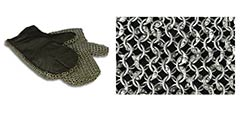 Padded Chainmail Mittens, Knight Grade Code 8