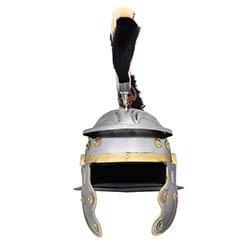 Roman Gallic Helmet, Black and White Crest, 18G