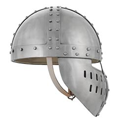 Crusader Spangenhelm with face guard