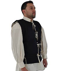 Waistcoat, 15th C, Wool/Cotton, Blue