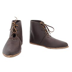 Front Laced Ankle Boots, Dark Brown