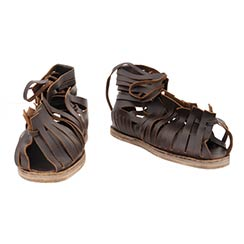 Roman Sandals, Dark Brown