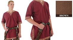 Viking Shirt, Brown Large