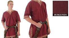 Viking Shirt, Burgundy Medium