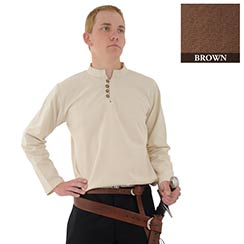 Heavy Cotton Shirt, Brown