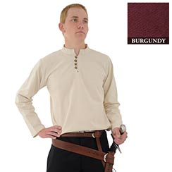 Heavy Cotton Shirt, Burgundy