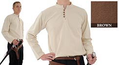 Heavy Cotton Shirt, Brown XX-Large