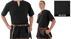 Medieval Tunic, Black X-Large