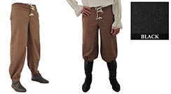 Pirate Pants, Black Medium
