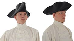 Tricorn Hat, Leather - X-Large