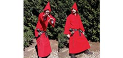 Medieval Hooded Cloak - Red