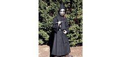Medieval Hooded Cloak - Black