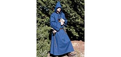 Medieval Hooded Cloak - Blue