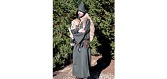 Medieval Hooded Cloak - Green