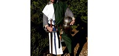 Squire's Tunic - Green / White