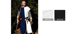 Squire's Tunic - White / Black