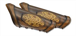 LeatherWorks Celtic Brown Bracers Small