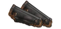 LeatherWorks Black w/Brown Greaves - Large