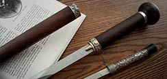 Damascus Taiji Sword Cane w/ Knife